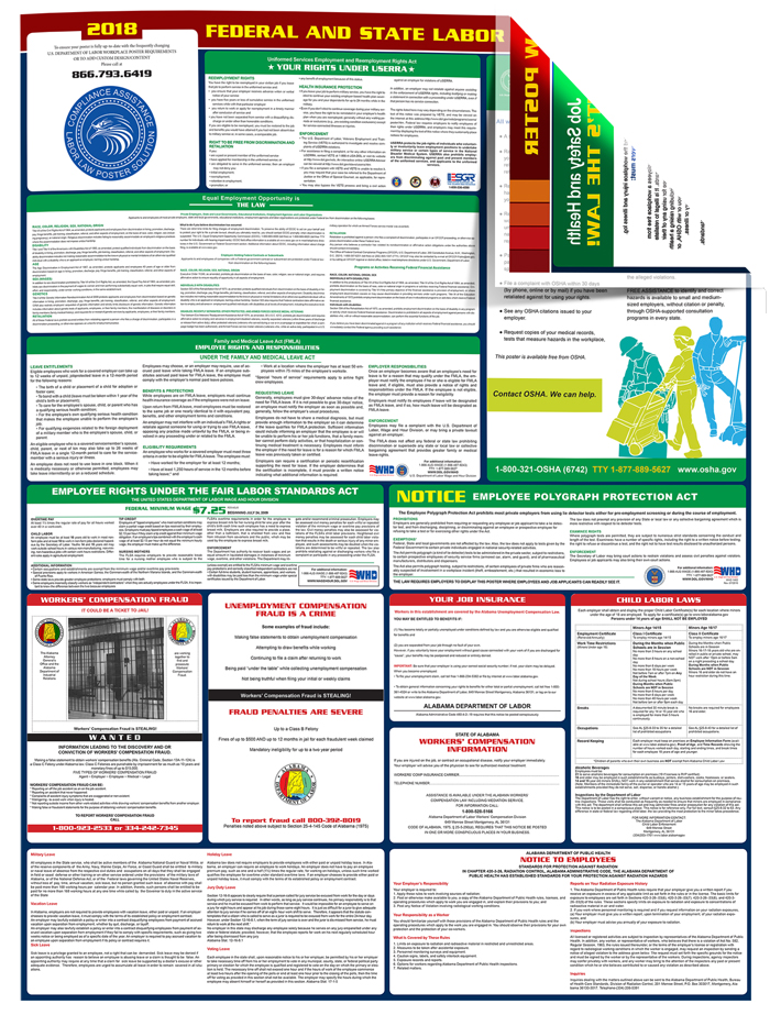 Download Alabama All in One Labor Law Poster
